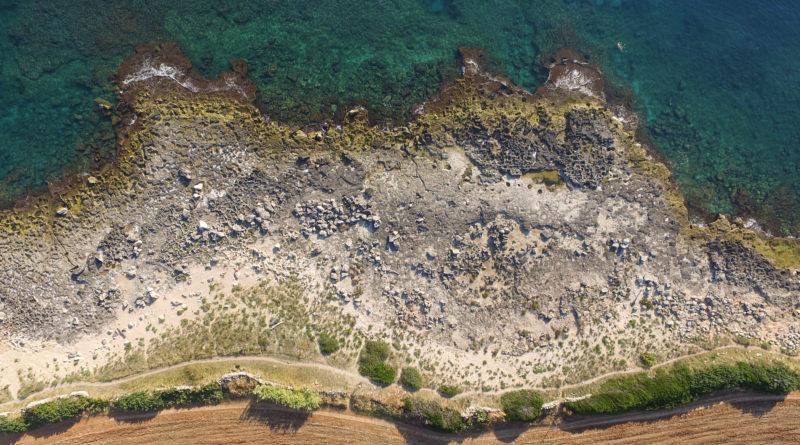 Foto aerea di un tratto di Costa Ripagnola (foto Roberto Greco)